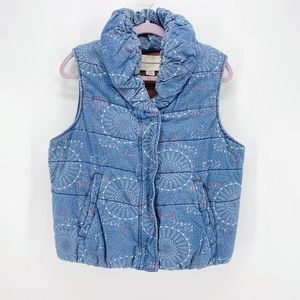 Pilcro and the Letterpress Chambray Puffer Vest